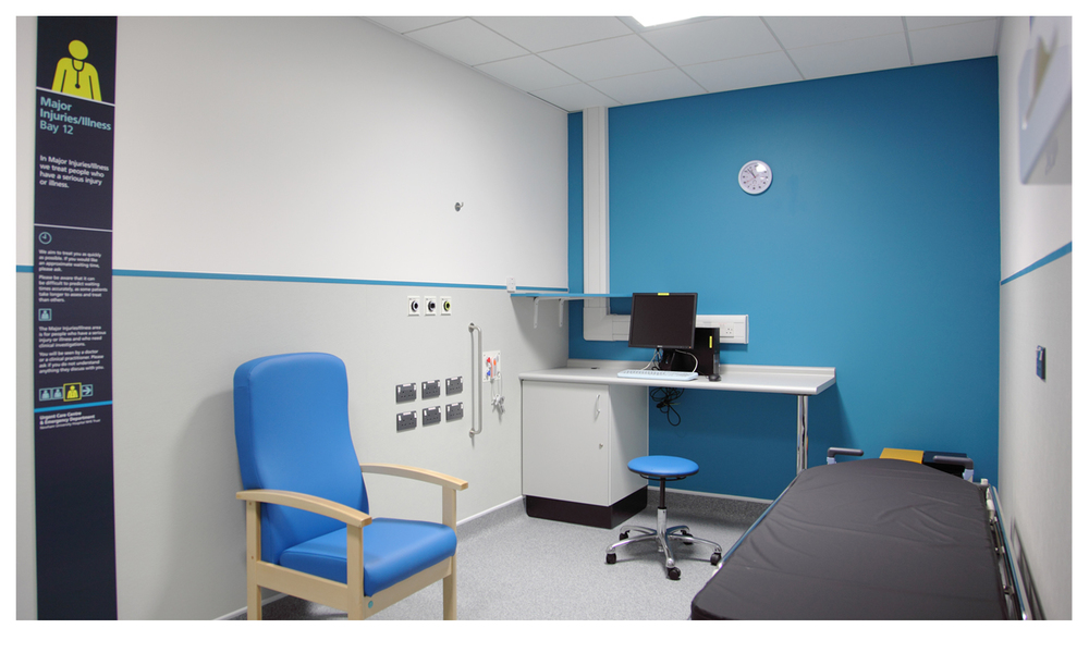 Panels inform patients where they are and what type of care they can expect. ©Simon Turner Photography