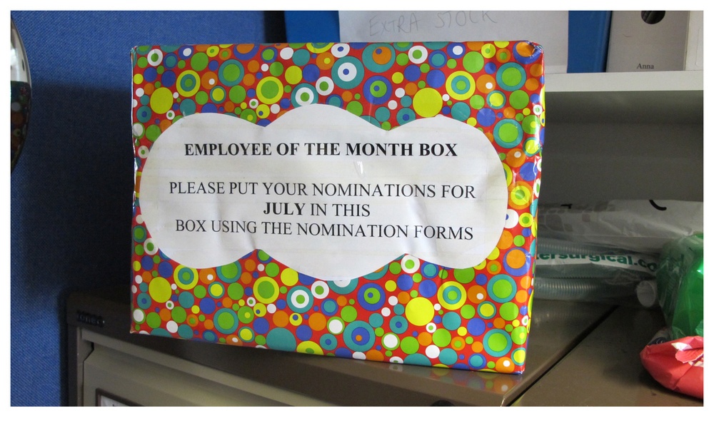 An 'Employee of the Month' scheme began as part of the People Solution.