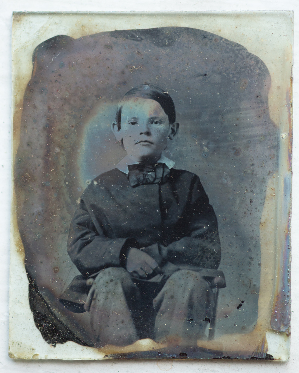 Ambrotype of young boy