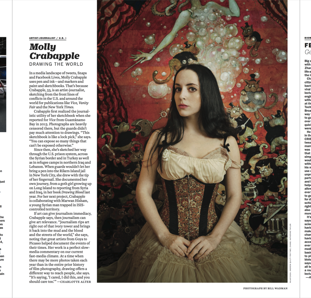 Molly Crabapple in Time Magazine (Oct 17, 2016)
