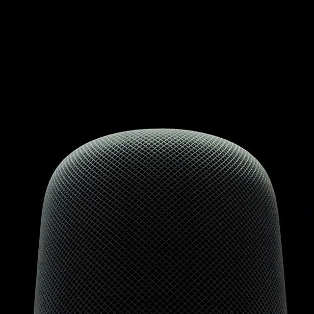 HomePod, just shot this w/ ambient light on  #iPhone7plus.  It looks like a great size, the top display is pretty mesmerizing and I can't wait to actually hear it. #wwdc2017