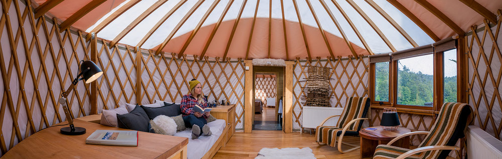 Yurt living at  Patagonia Camp  was Esther's favorite. Shot on Sony A9 w/ 16–35 f/2.8 (pano).