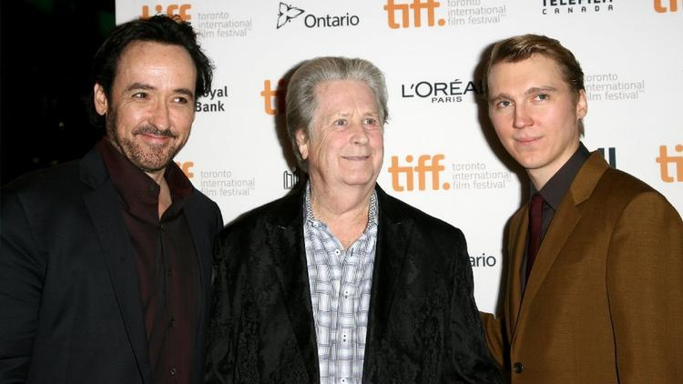 "John Cusack, Brian Wilson and Paul Dano at the Toronto International Film Festival premiere of ""Love & Mercy."" (Tommaso Boddi)"