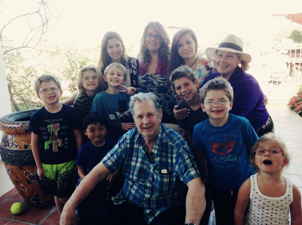Brian, children and grandchildren on Father's Day, 2014.