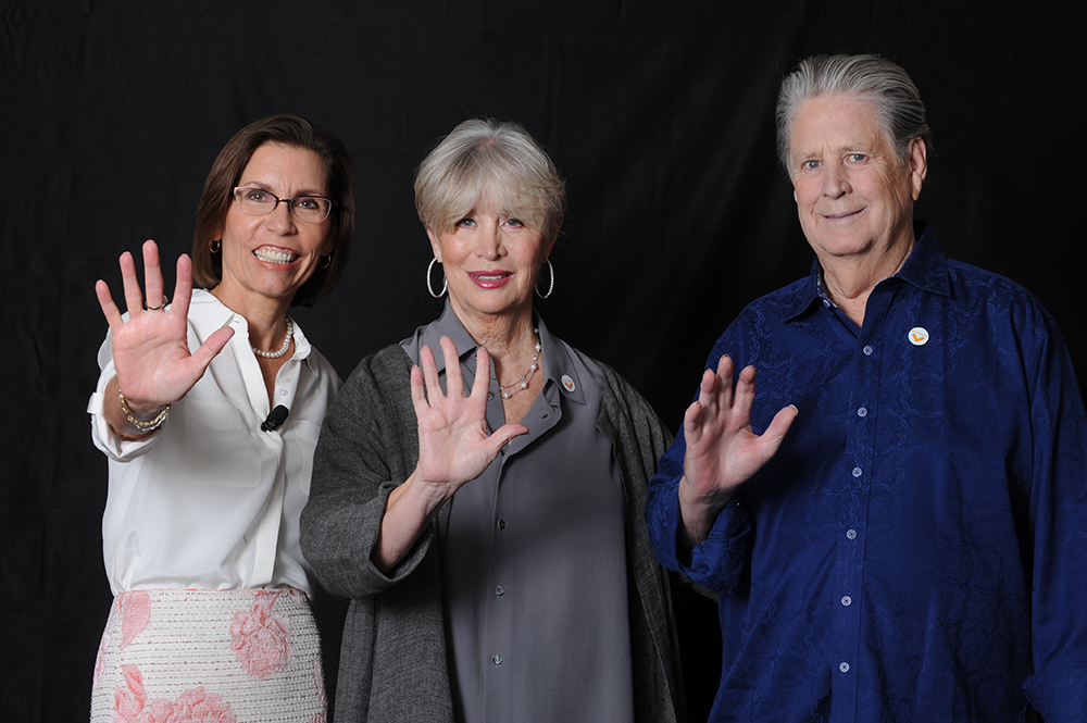 Dr. Barbara Van Dahlen, Founder and President of Give an Hour, with Melinda & Brian