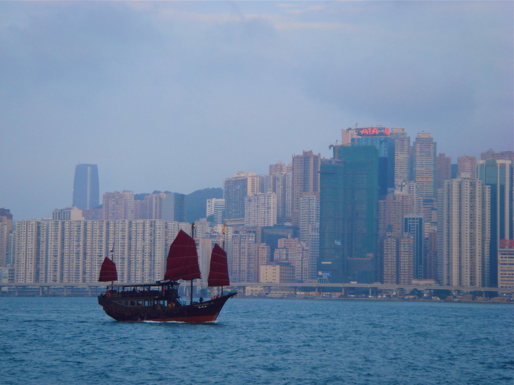 The View of Hong Kong Island from Kowloon, Hong Kong