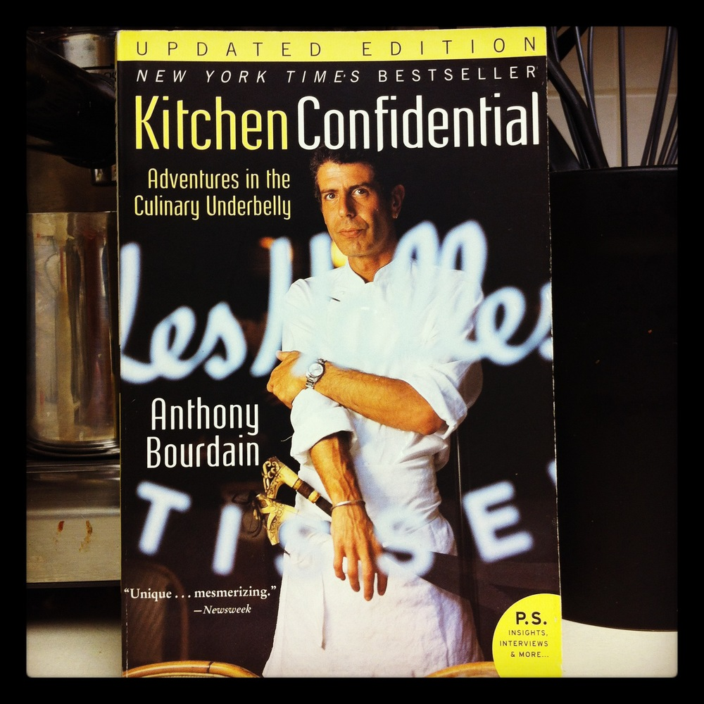 Book list kitchen confidential the anthrotorian for Kitchen confidential