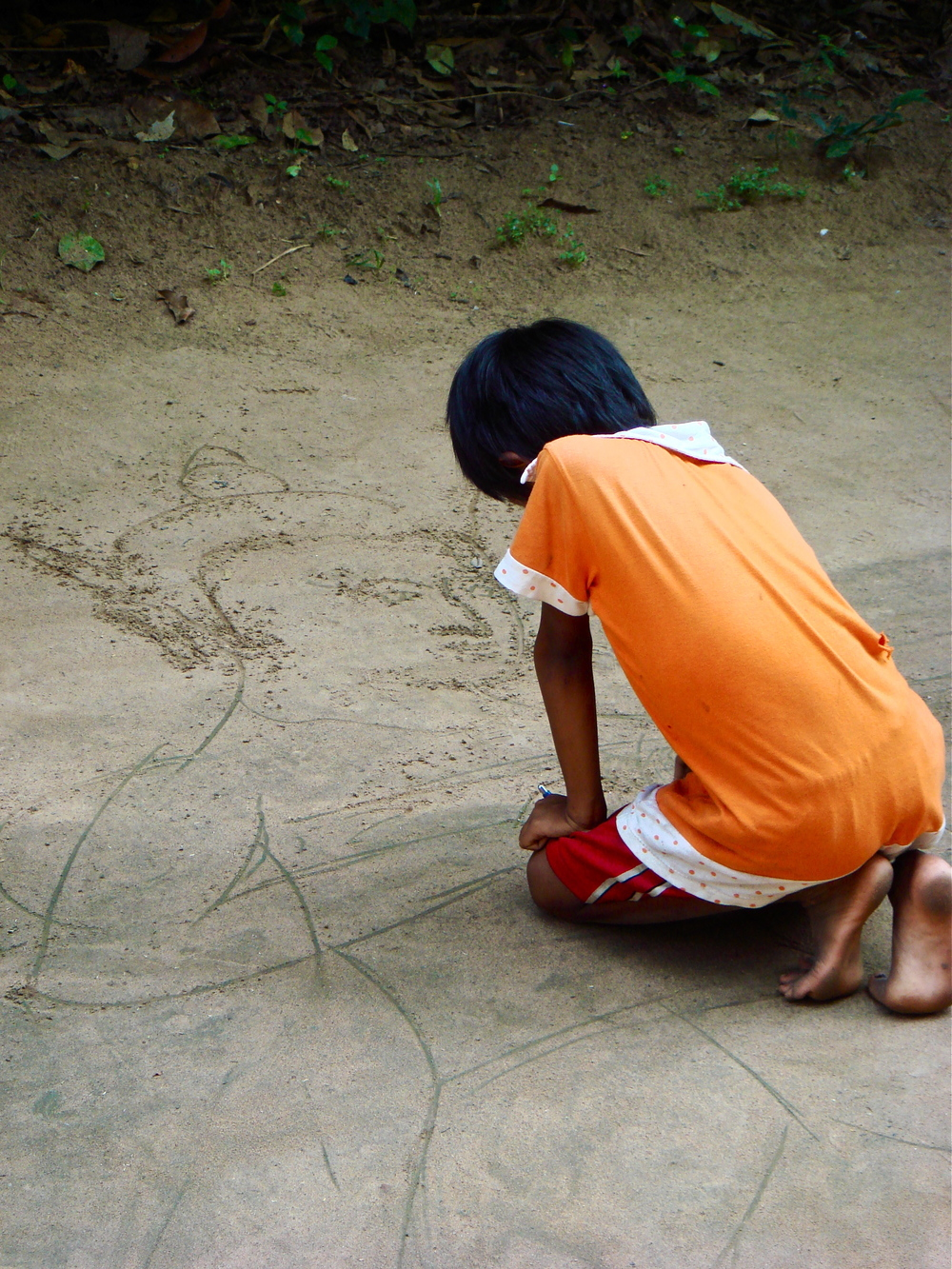 The Little Artist               Angkor, Siem Reap, Cambodia