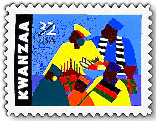 Screen Shot of the first US Stamp to Celebrate Kwanzaa