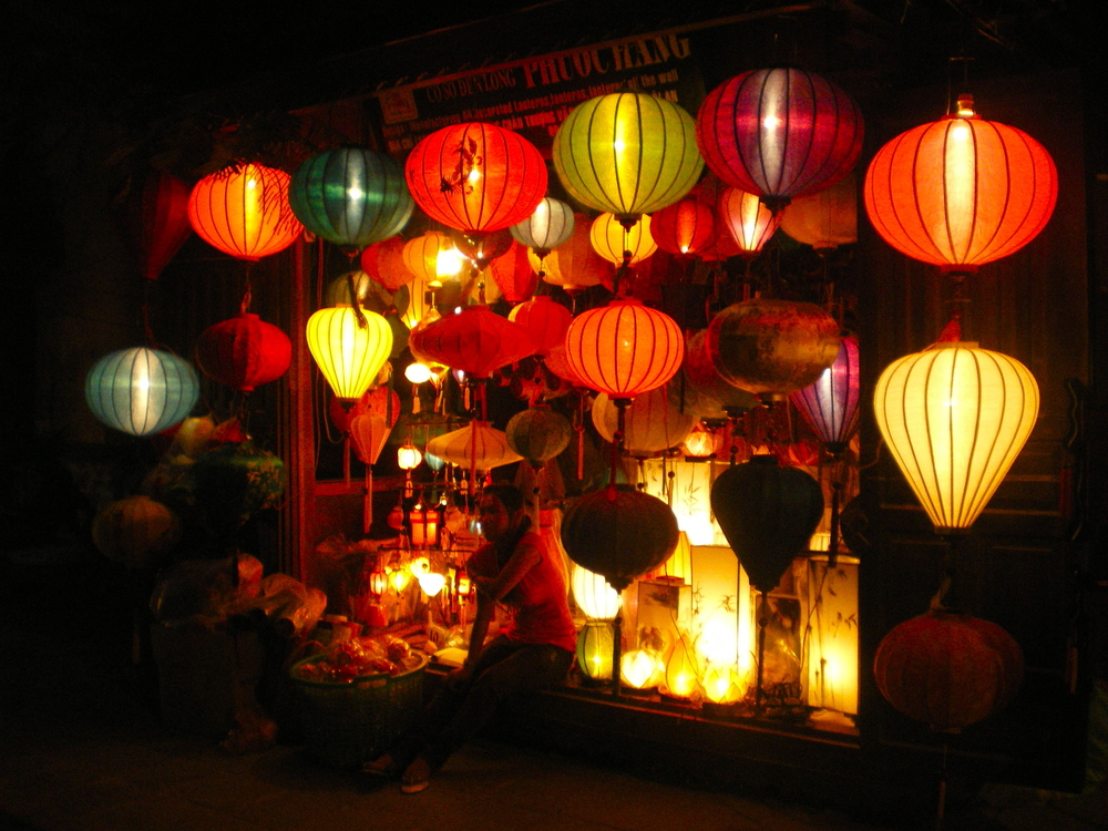 Paper Lanterns at Night, Hoi An, Vietnam