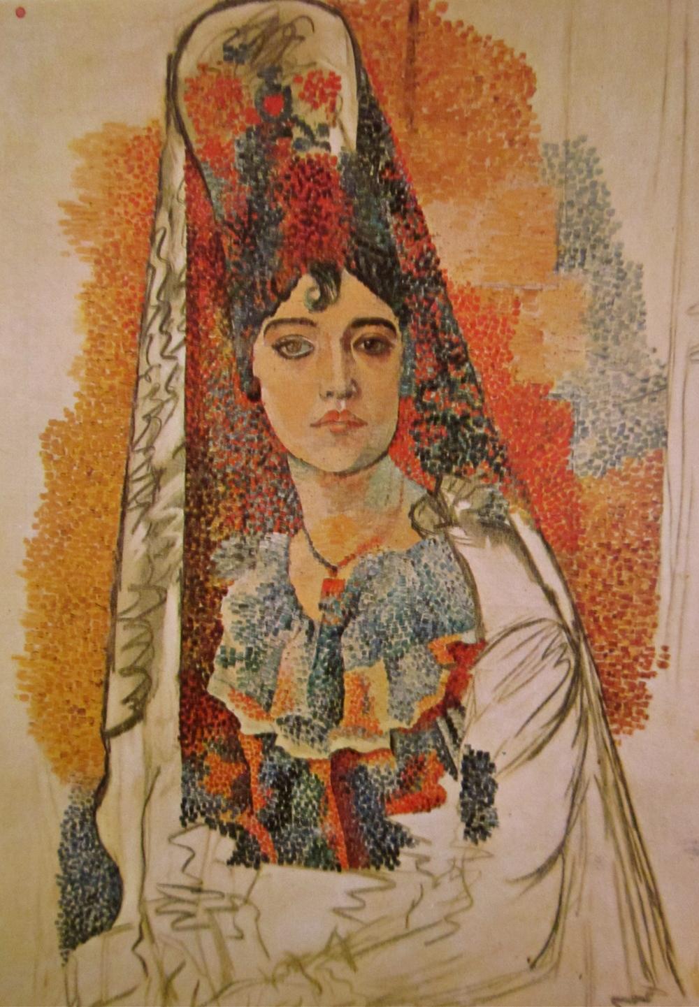 Anthrotorian A Mantilla The Woman — Picasso