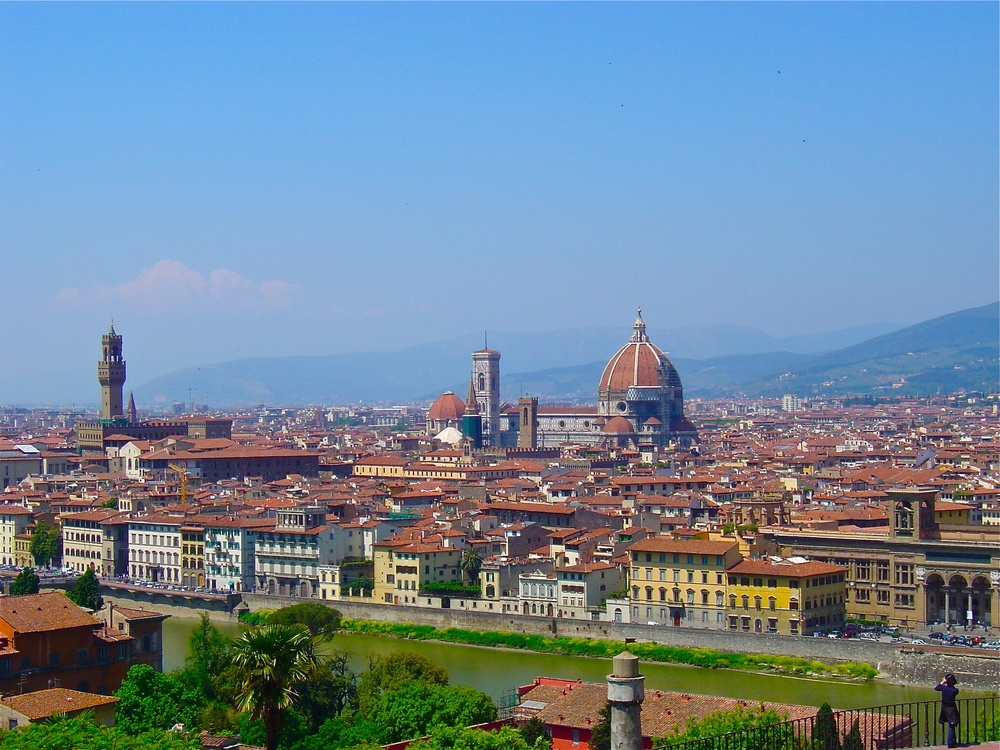 The view from the Piazzale Michelangelo
