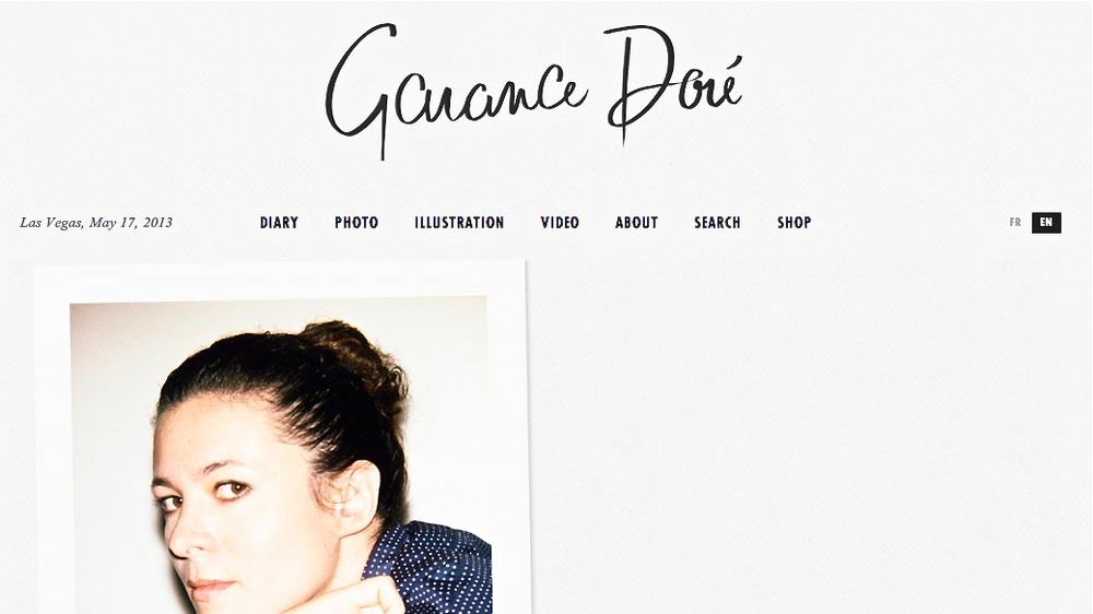 Screen shot of Garance Dore's website