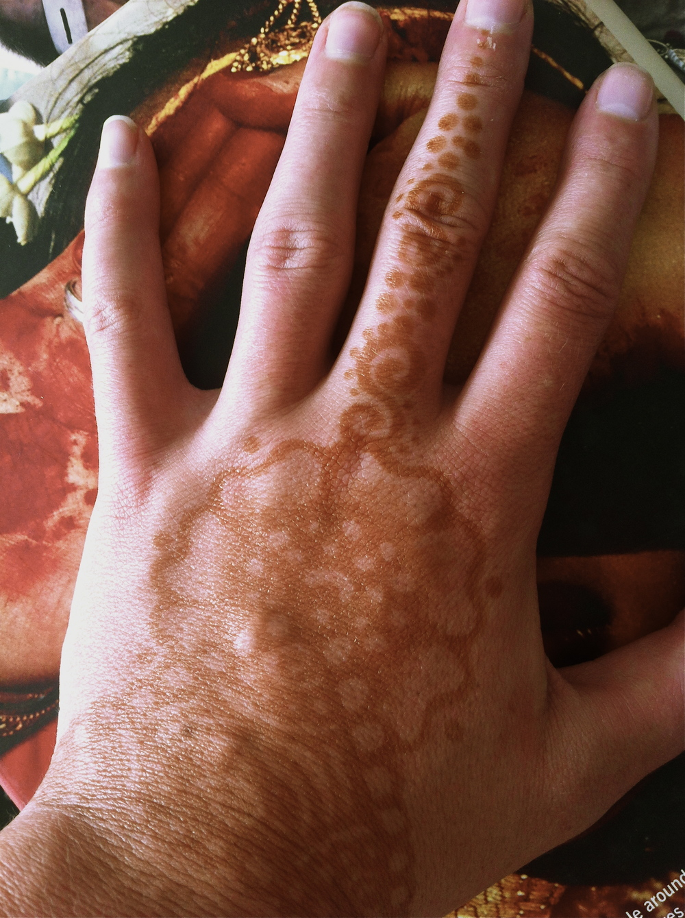 My henna tattoo once the paste was rubbed off