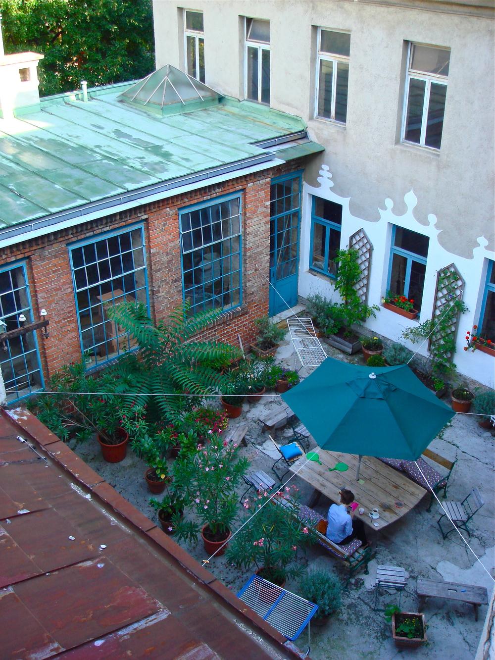 Hostel Courtyard       Vienna, Austria