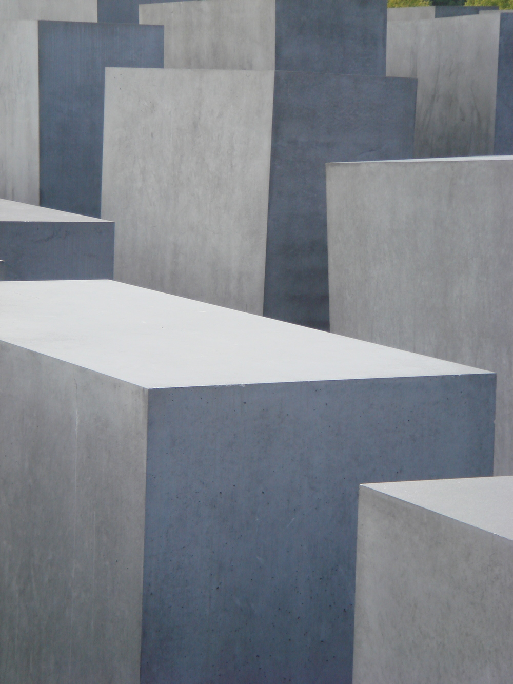A portion of the disorienting concrete forest — the Holocaust Memorial in Berlin, Germany