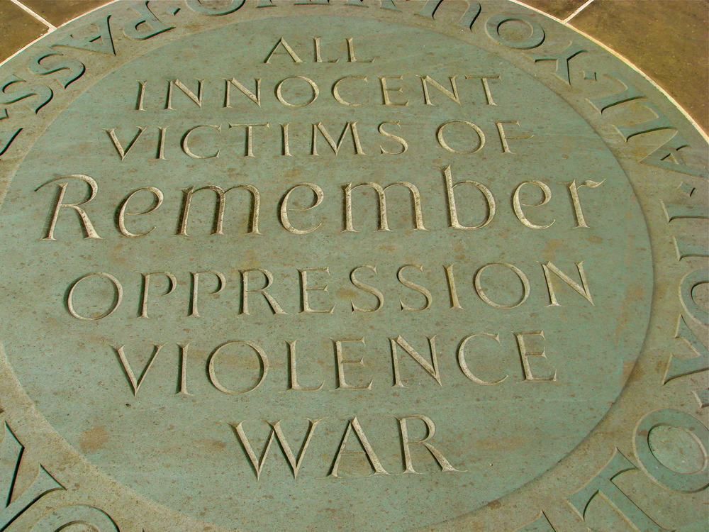 A tile in the courtyard of Westminster Abbey in London, UK