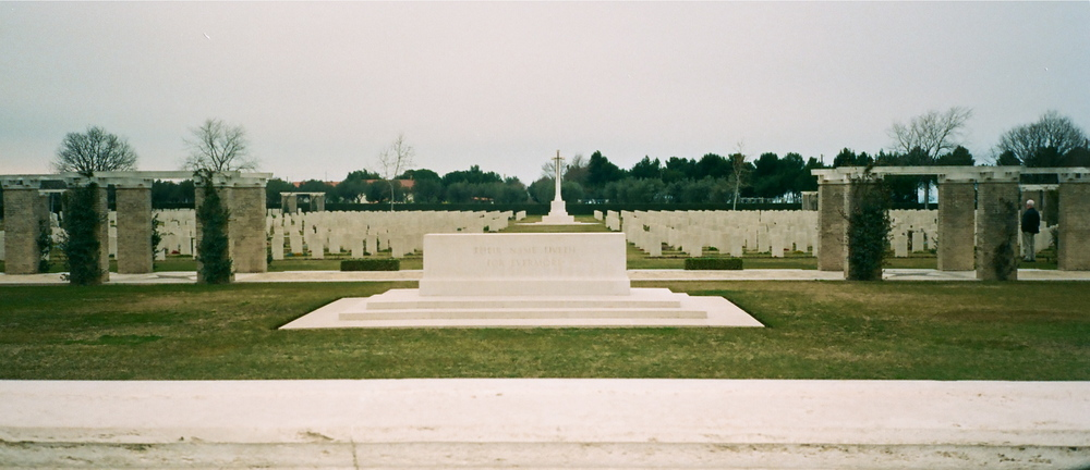 Moro River Canadian War Cemetery in Ortona, Italy