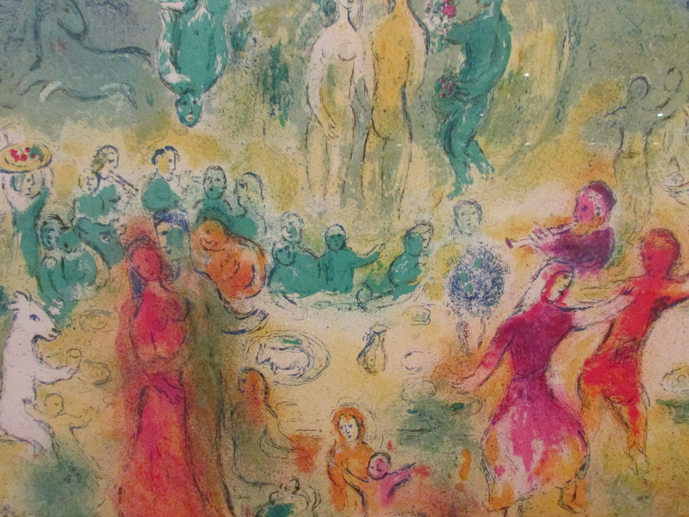 Megacles Recognizes his Daughter during the Feast  by Marc Chagall c.1956-61, printed 1961, colour lithograph on wove paper