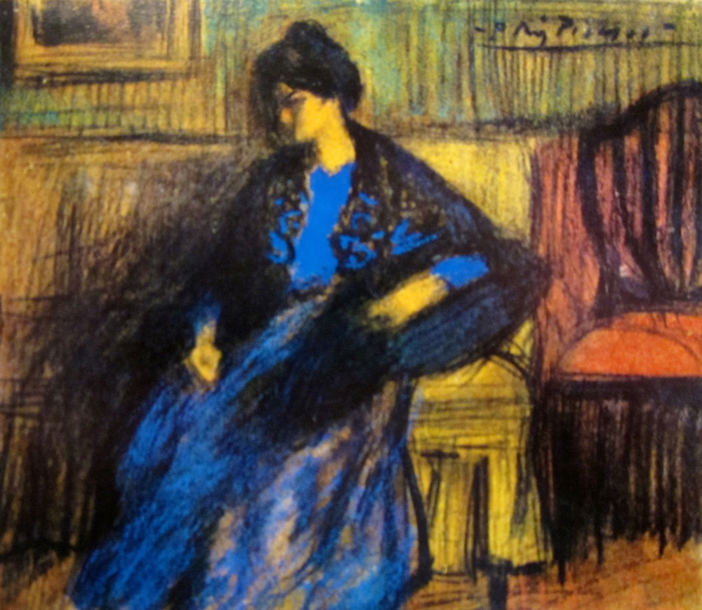 Mujer con manton, sentada (1899-1900)       Museo Picasso, Barcelona, Spain