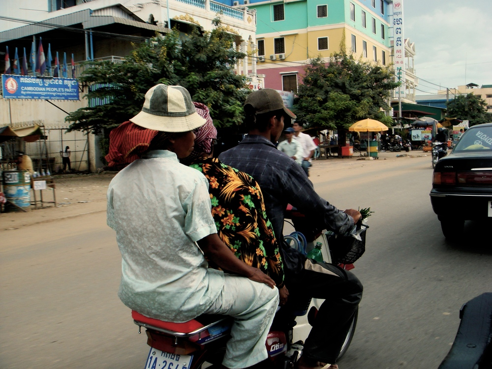 On the street in Phnom Penh, Cambodia