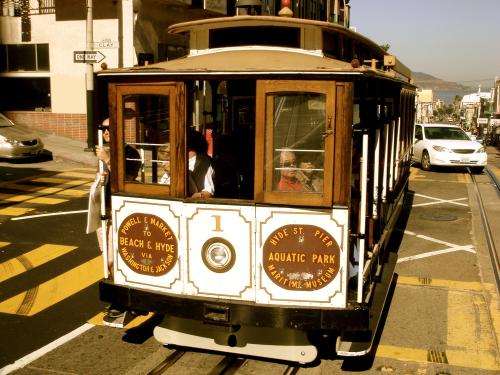A streetcar in San Francisco, California