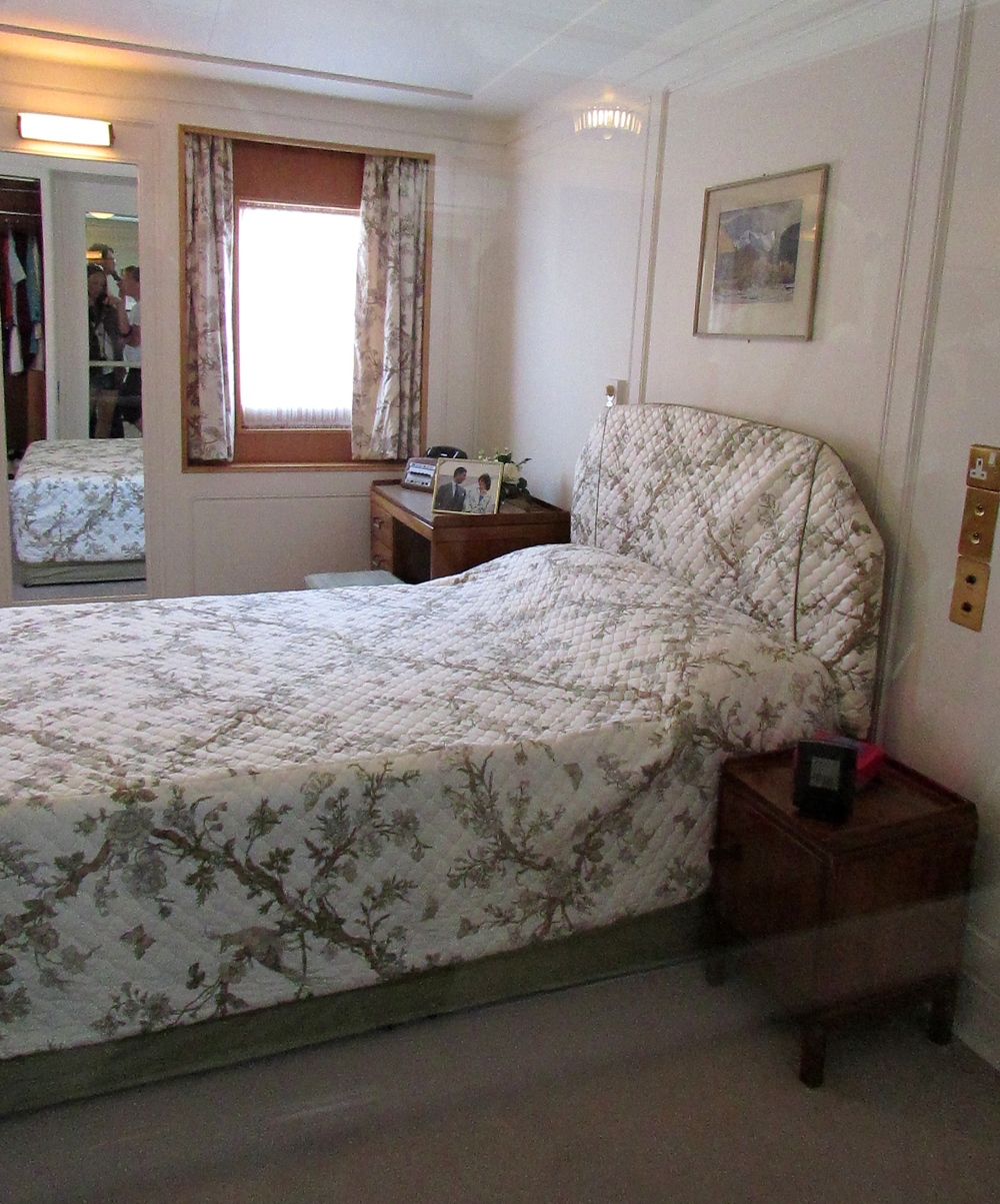 The only room on the boat with a double bed is where Princess Diana and Prince Charles stayed and, more recently, where the Clintons slept while they were guests on the yacht.