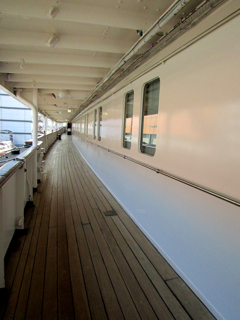 "The Queen's Royal Yacht ""Britannia"" in Edinburgh, Scotland"