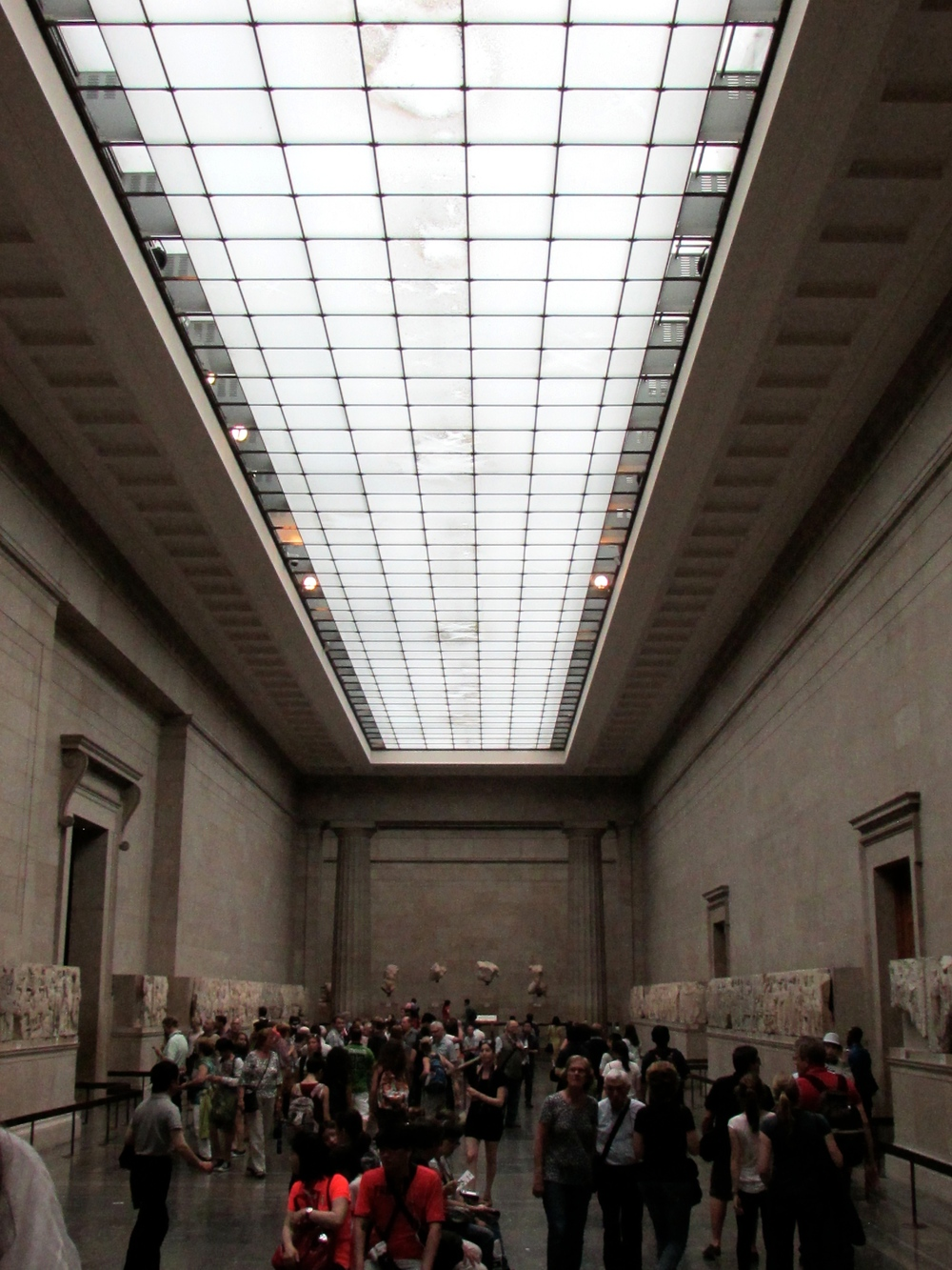 The room that holds the Elgin Marbles at the British Museum