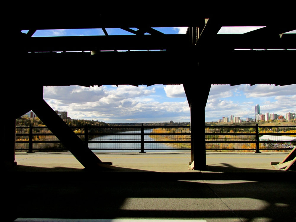 View off the Highlevel Bridge in Edmonton, Alberta