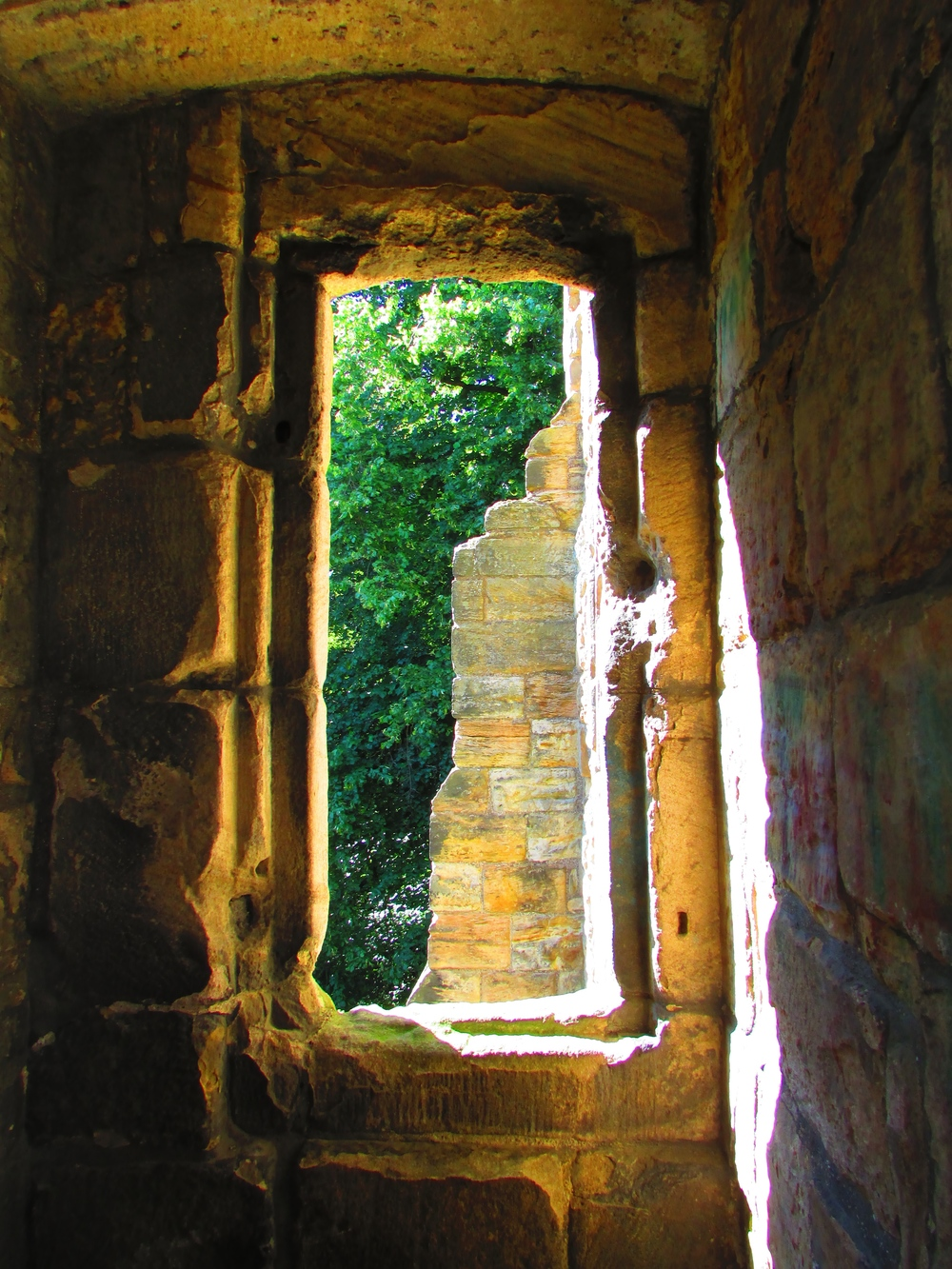 The ruins of Dunfermline Palace in Scotland