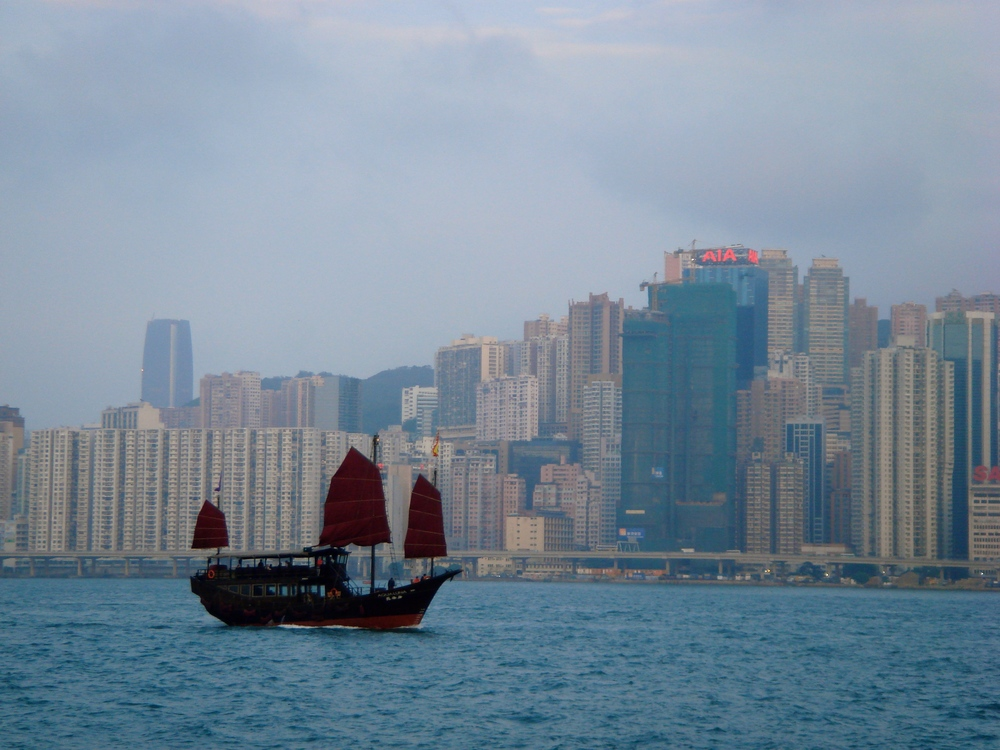 The view of Hong Kong Island from Kowloon