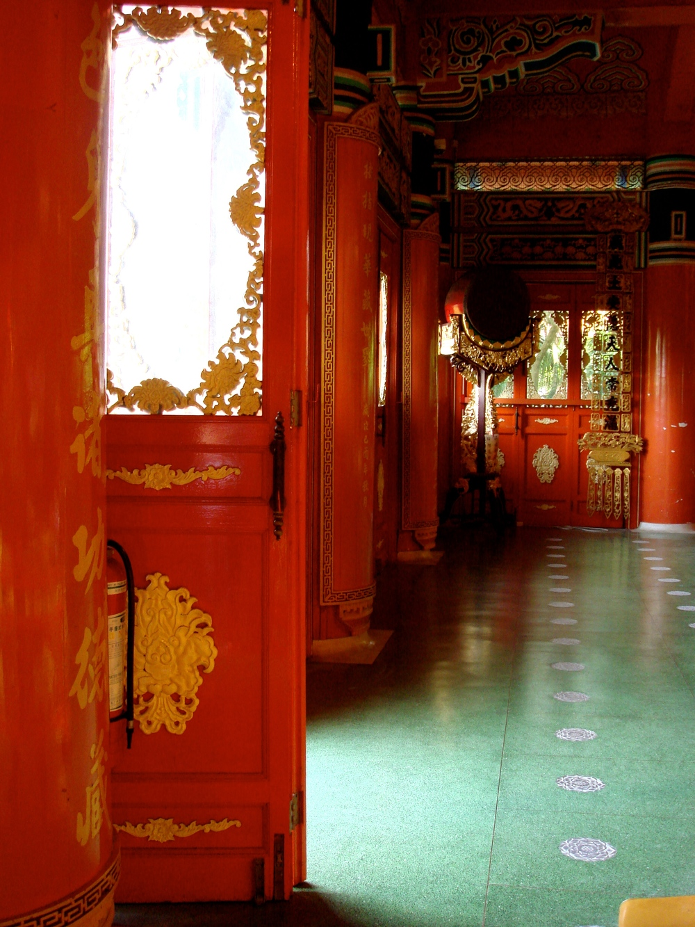 Inside the Po Lin temple on Lantau
