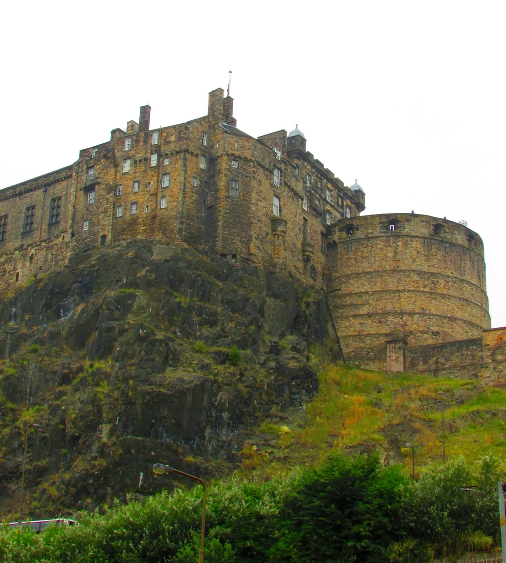 Edinburgh Castle is an impressive sight when viewed from the road below