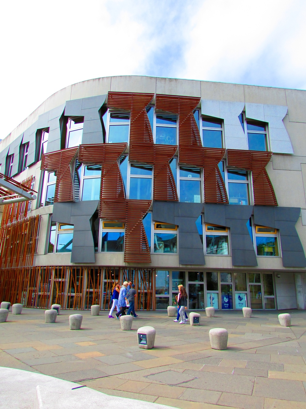 A portion of the Scottish Parliament Building