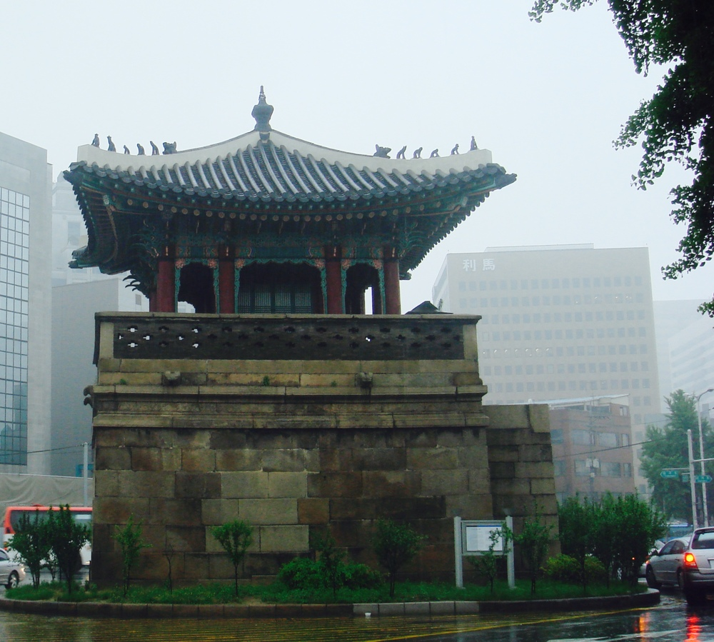 The Great South Gate near Namdaemun Market in Seoul, South Korea. This photo was taken before it was burned down in an act of arson in 2008.