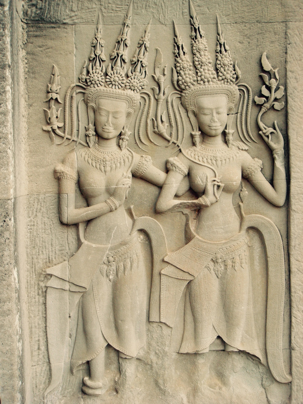 These incredibly detailed nymphs can be found all over the Angkor Wat temple (there are more than 3,000 of them!)