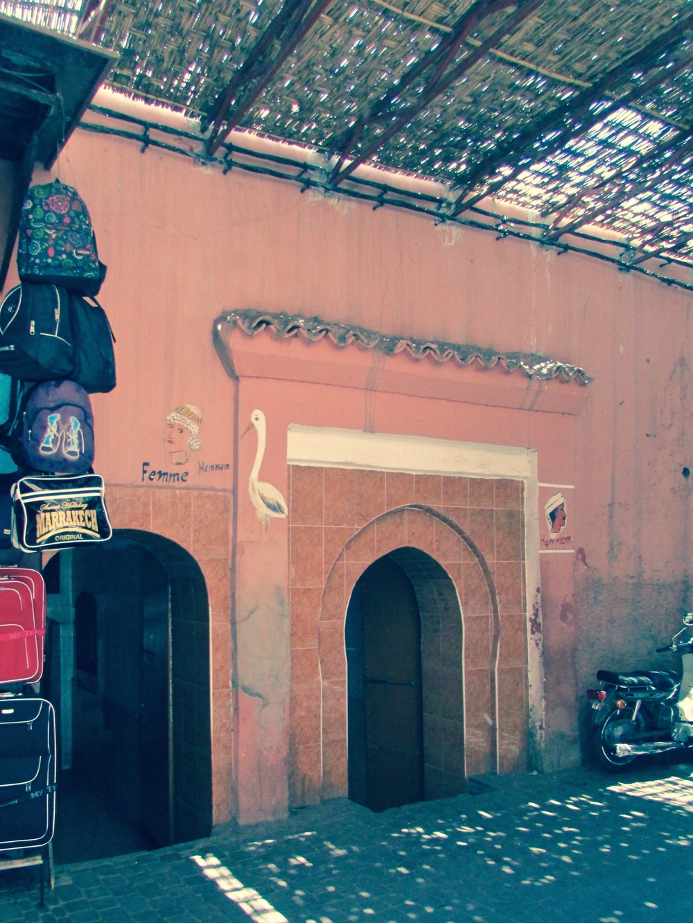 A typical entryway into a public hammam