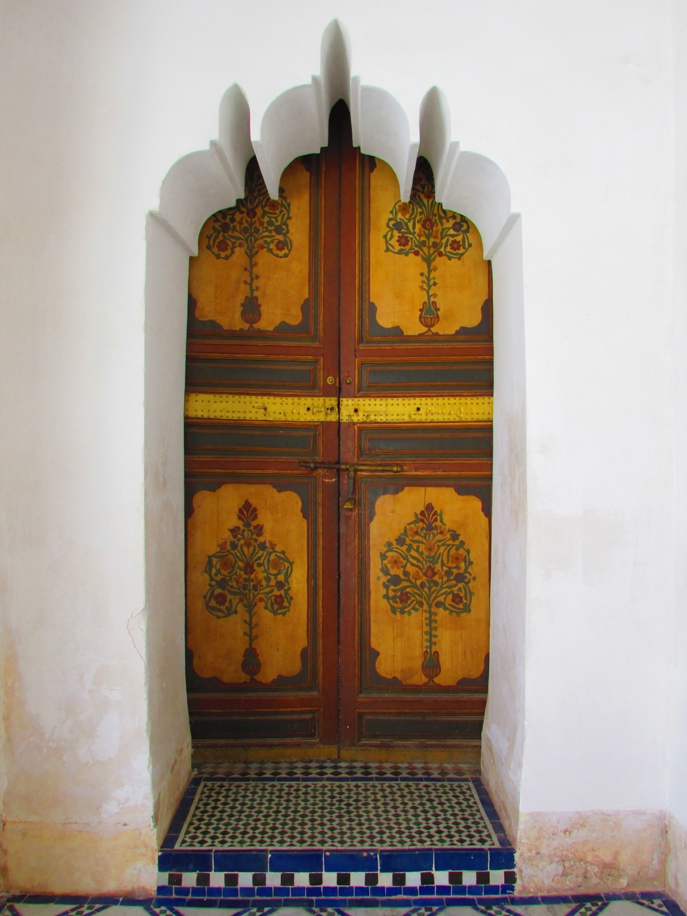 One of the many elaborate doorways at the Bahia Palace