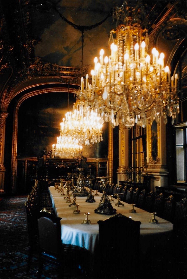 Napoleon's dining room at the Louvre in Paris