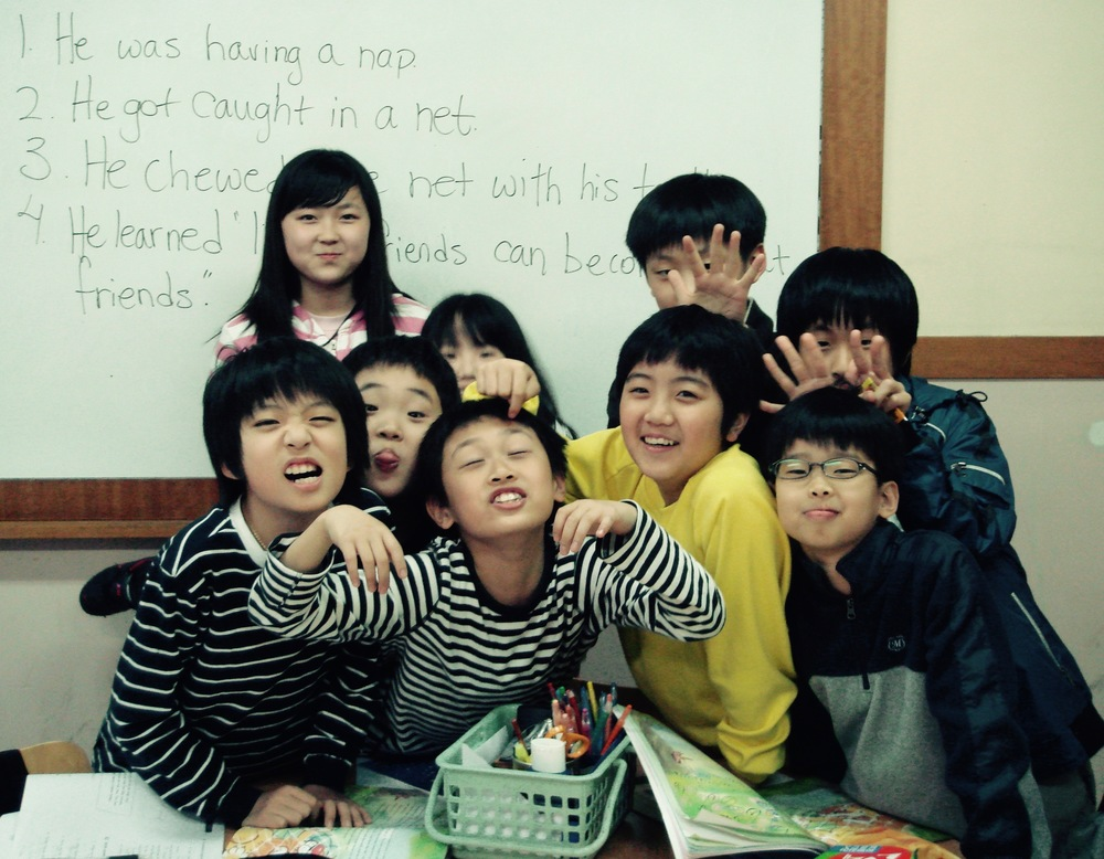 My favourite students in South Korea were always full of energy and character!