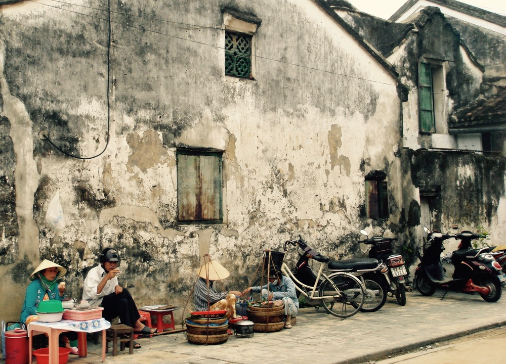 Ladies all set up for the lunch rush in Hoi An, Vietnam