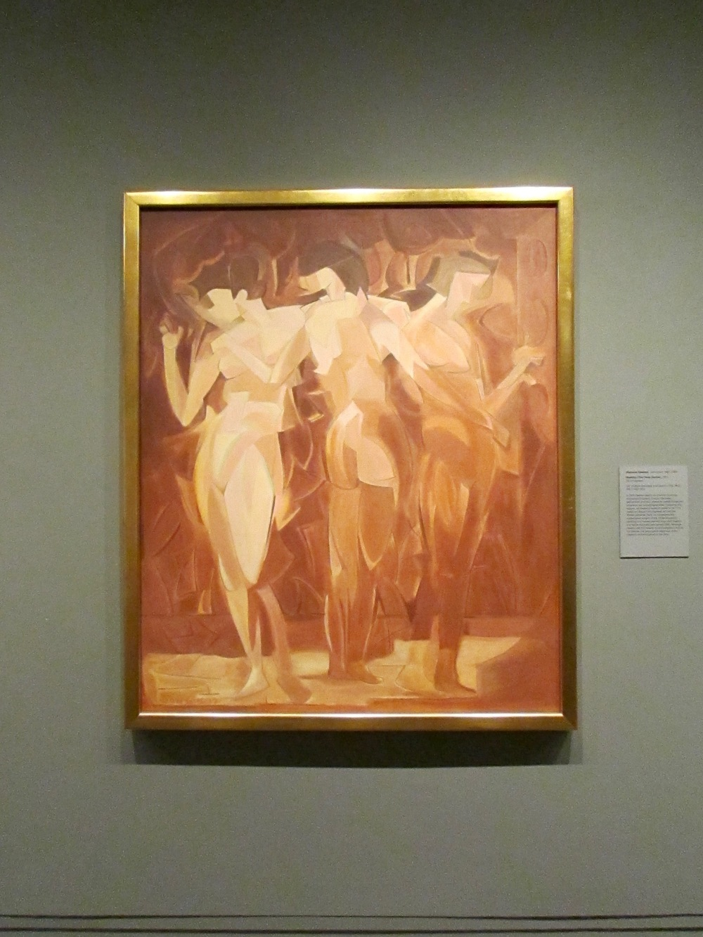 Meeting (The Three Graces), 1912, by Manierre Dawson at The Met in NYC