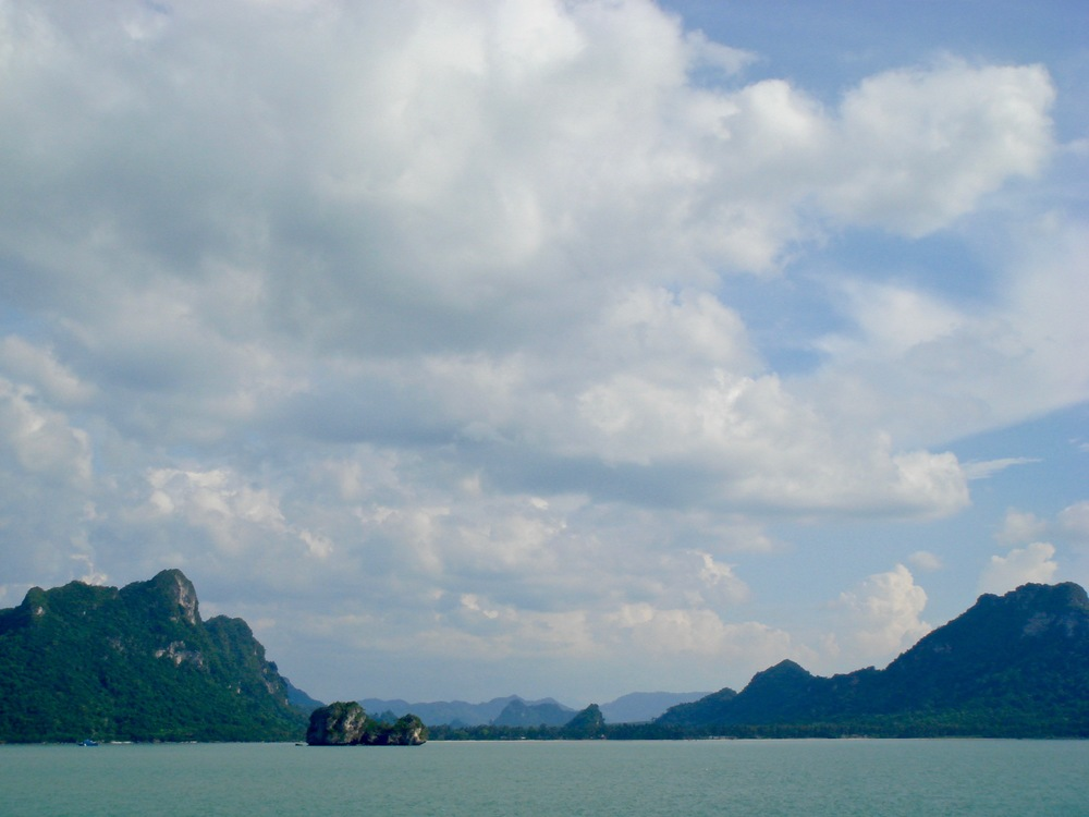 The coast of Ko Samui, Thailand from the ferry