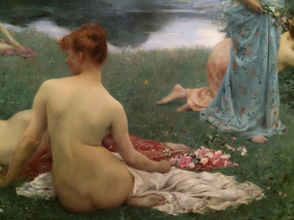 Detail of a painting by Le Albert-Lefeuvre at the  Konstmuseum  in Gothenburg, Sweden