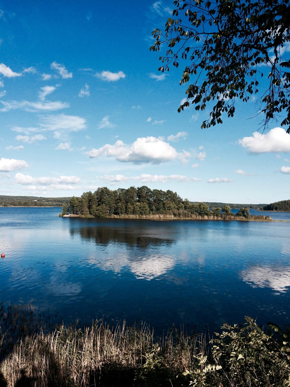 One of the many beautiful lakes in the southern region of Sweden