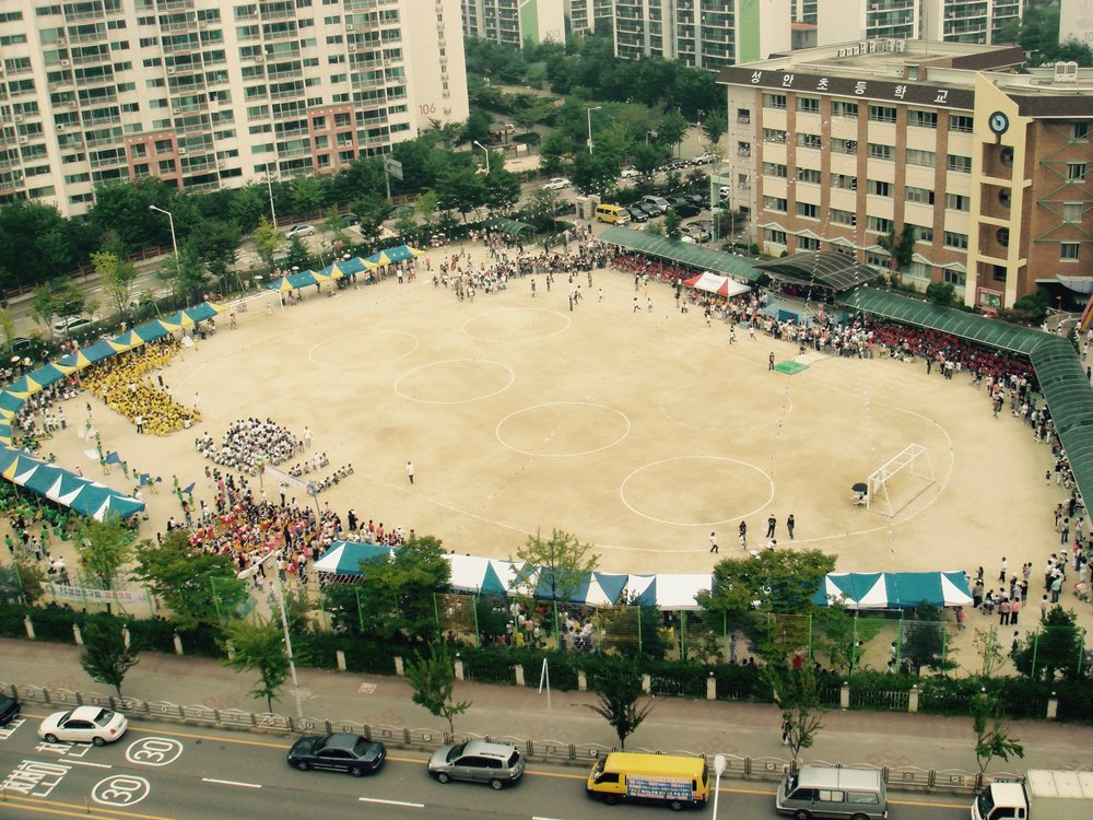 A school yard in Ansan, South Korea
