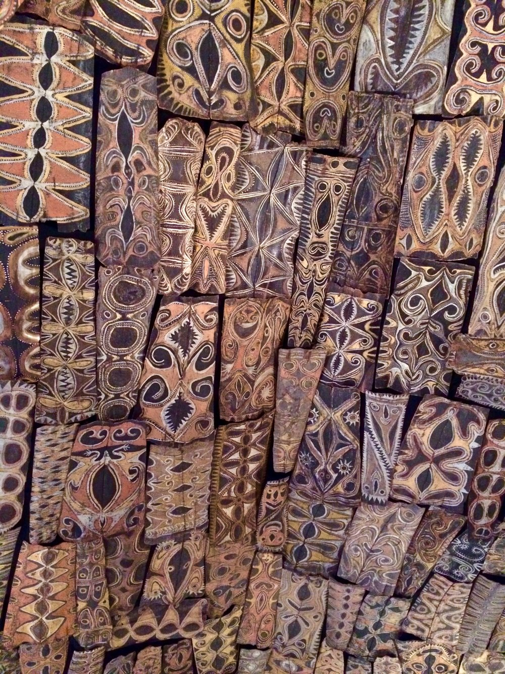 The ceiling of a ceremonial house of the Kwoma People from northeastern New Guinea