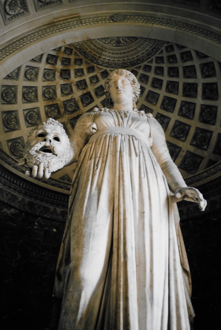 Located in the Louvre, this huge sculpture is almost 4 metres in height and dates back to 50 B.C. The figure depicted is Melpomene, the muse of tragedy, holding a tragic mask in her hand.