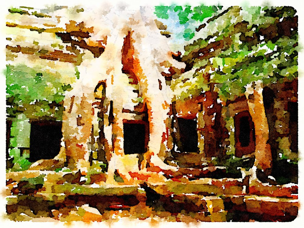 Cambodia Art Print